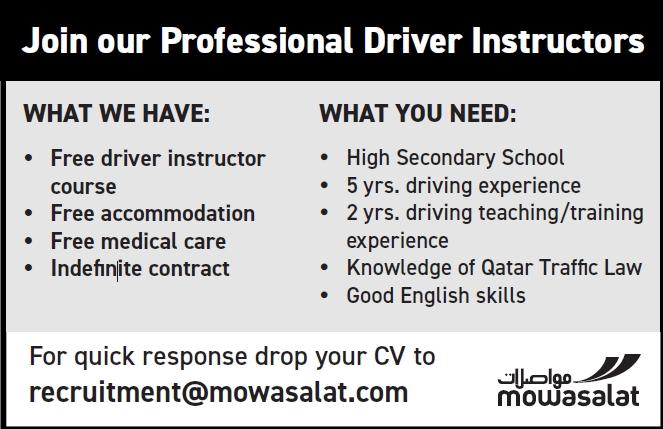 job for driver instructors