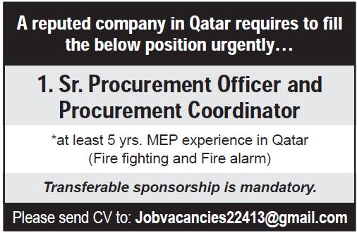 sr procurement officer
