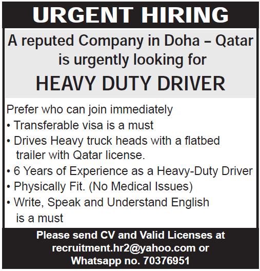 heavy duty driver