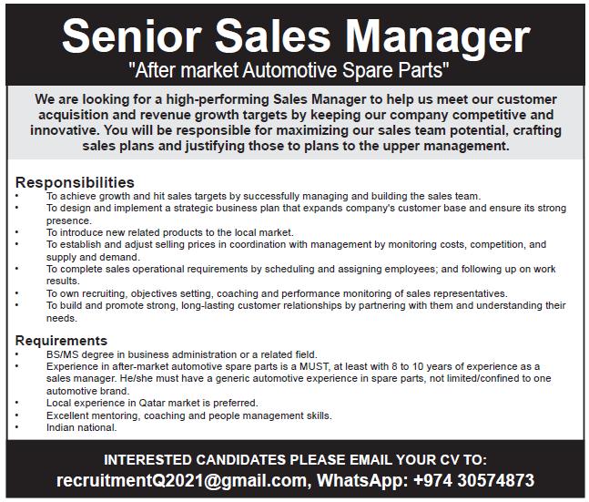 senior sales manager