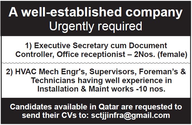 well established company announces job