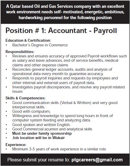 accountant payroll