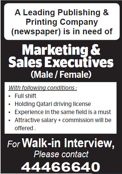 Marketing & Sales Executives