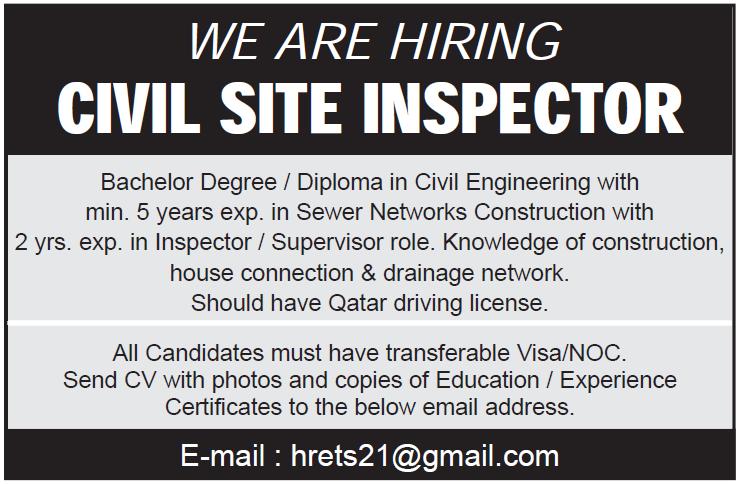 civil site inspector