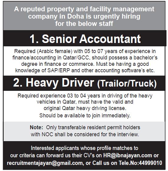 senior accountant driver