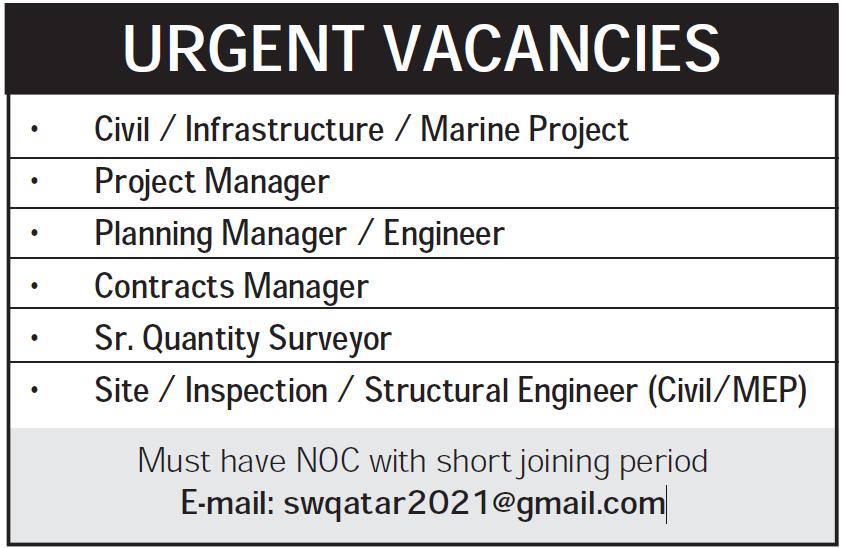 urgent vacancies