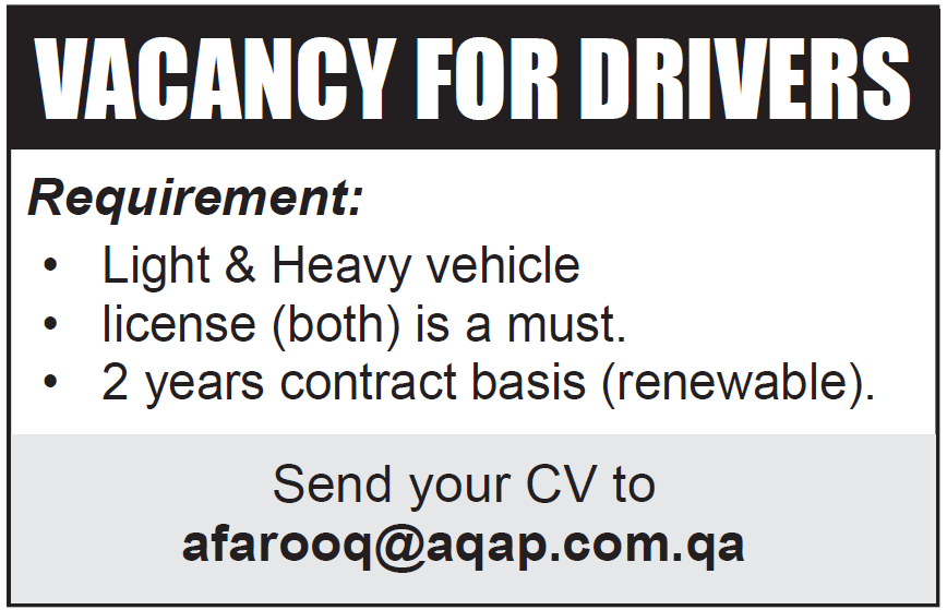 vacancy for drivers