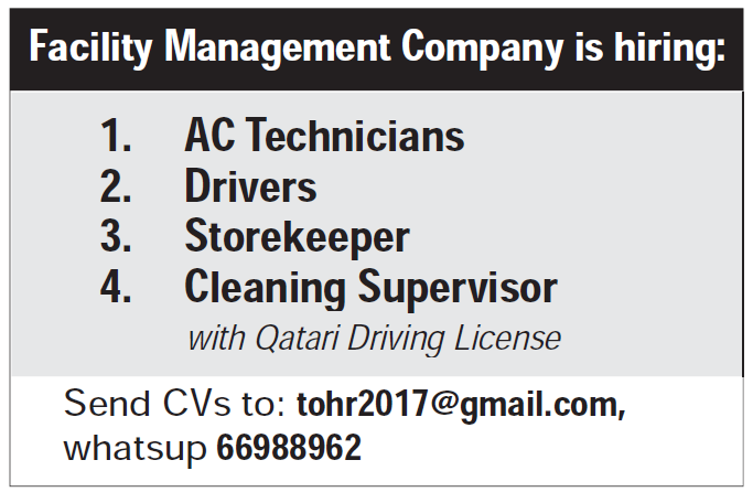 Facility Management Company is hiring