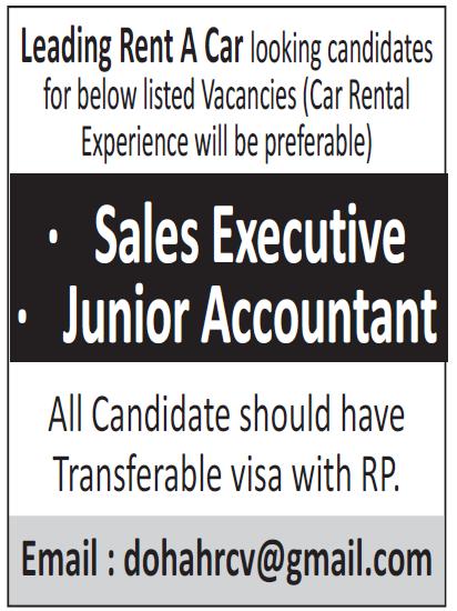 sales executive-junior accountant