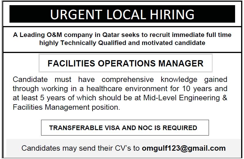 urgent local hiring