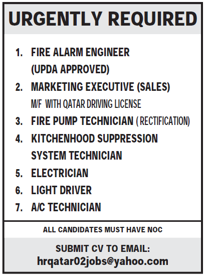 URGENTLY REQUIRED 1