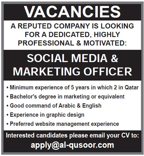 social media and marketing officer