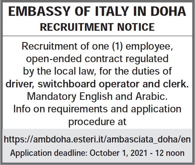 Embassy Italy in doha