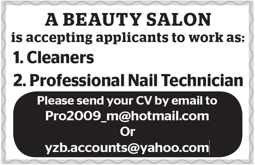 job at beauty salon