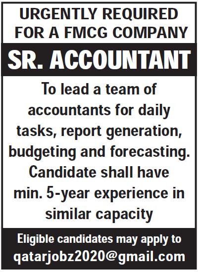 sr accountant