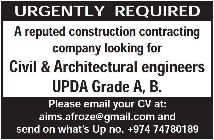 vacancy at construction contracting company