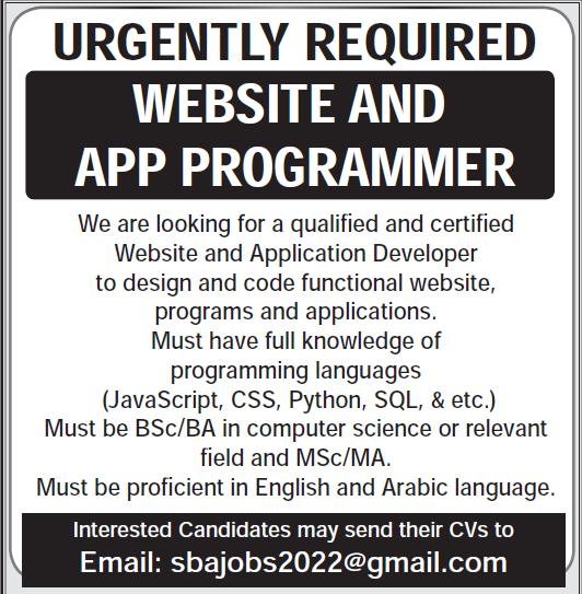 website and app developer