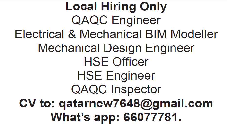 local hire only